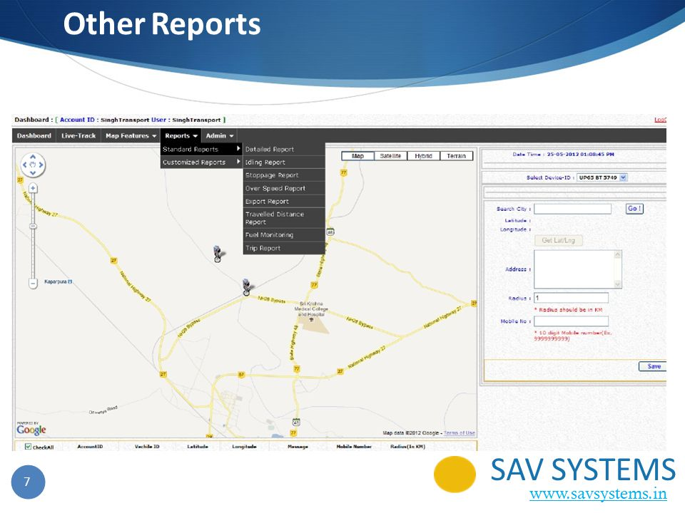7 Other Reports SAV SYSTEMS www.savsystems.in