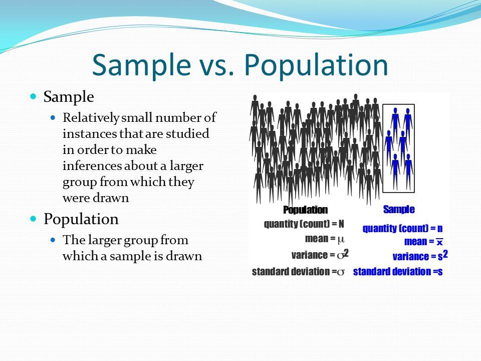 Sample vs.
