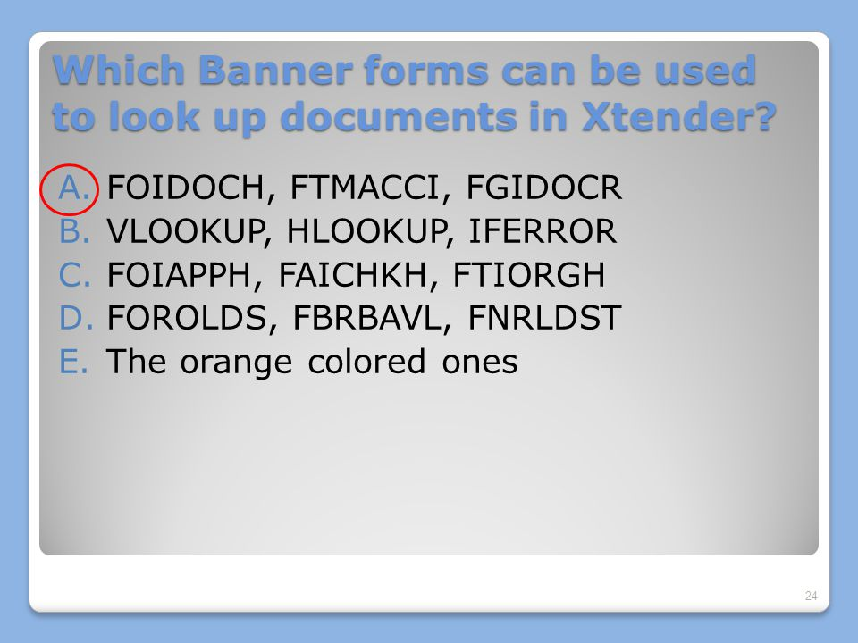 Which Banner forms can be used to look up documents in Xtender.