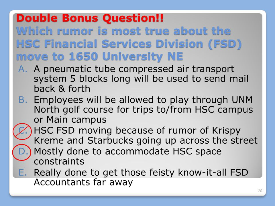 Double Bonus Question!.