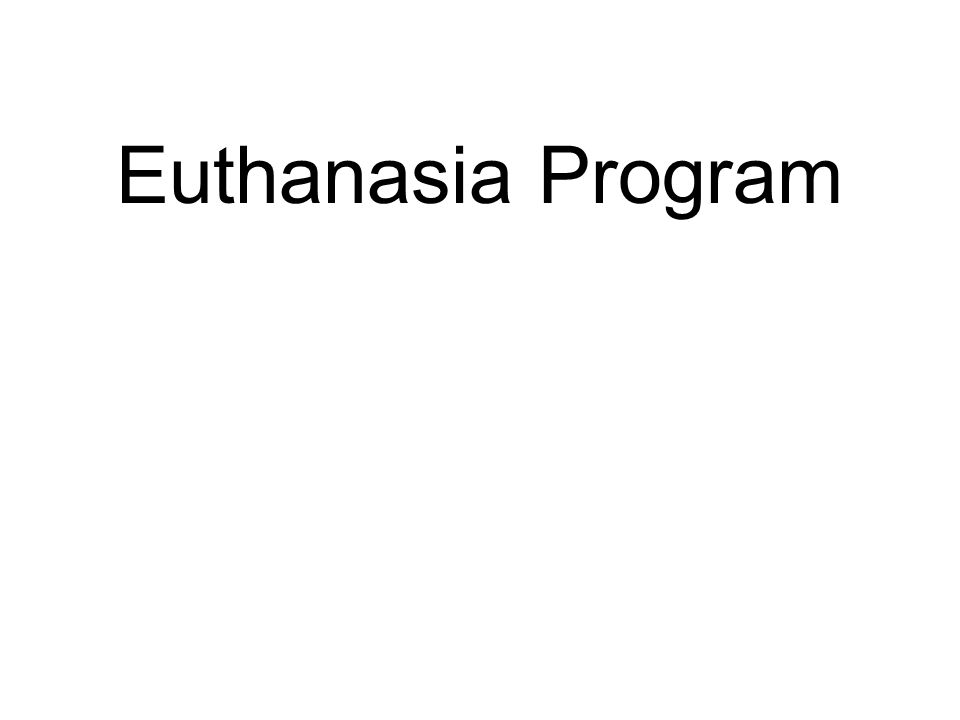 Euthanasia Program