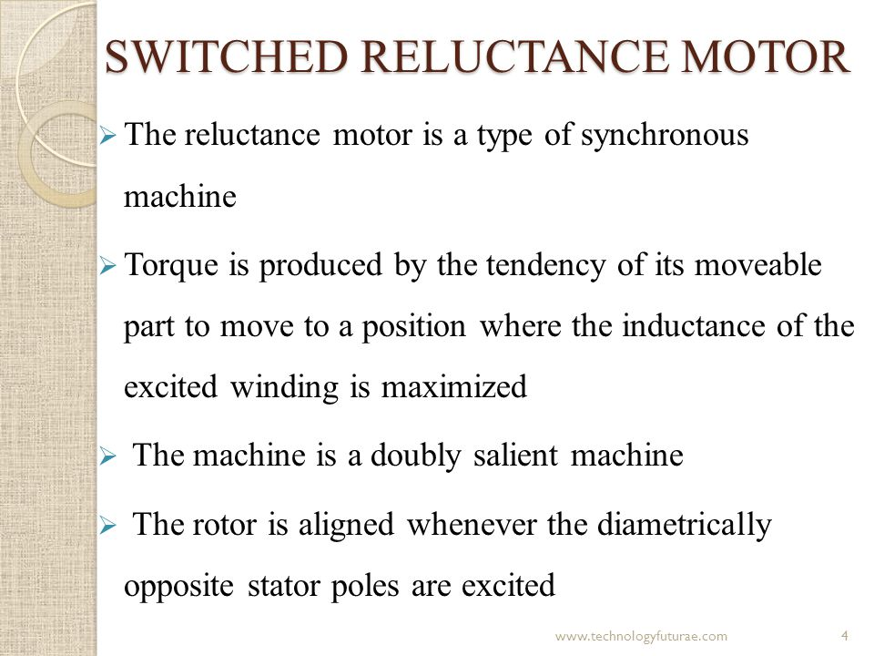 Contd… Operation of switched reluctance motor (a) Phase c aligned and (b) Phase a aligned 5www.technologyfuturae.com