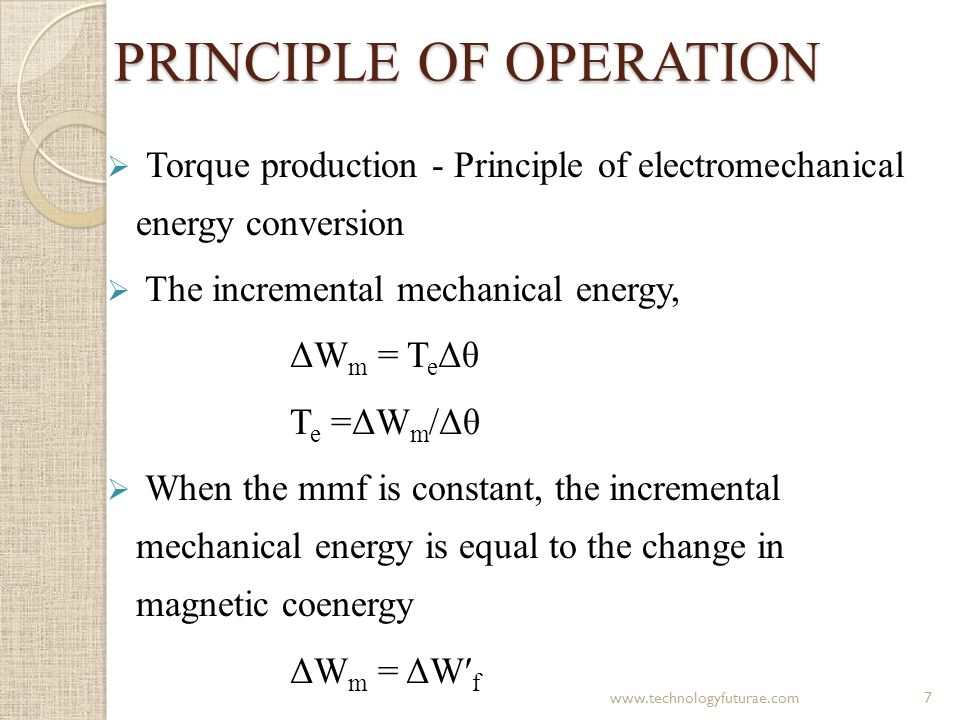 CONCLUSION  Basic concepts of switched reluctance motor was discussed  It includes principle of operation, torque and voltage equations and equivalent circuit of SRM  Design considerations of SRM motor for EV was discussed  Basic concepts of Finite element analysis was also discussed 18www.technologyfuturae.com