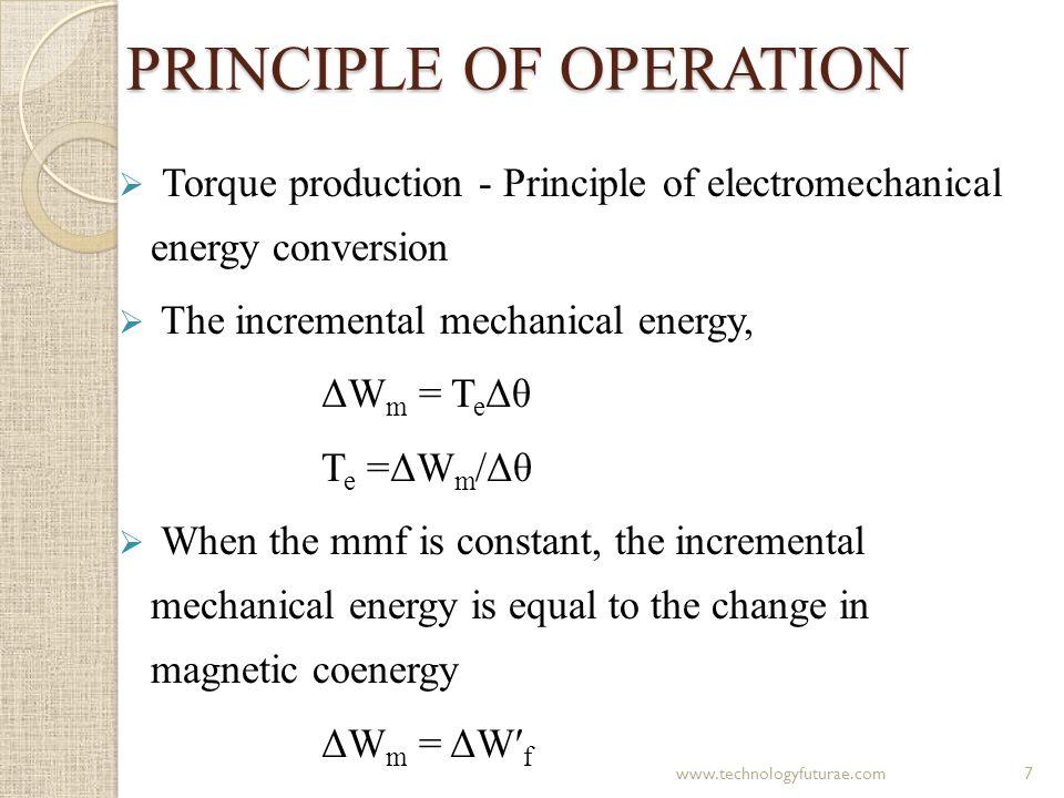 Contd… W′ f = (½) L(θ, i) i 2 T e =(ΔW m /Δθ) = (ΔW′ f /Δθ) = (∂W′ f / ∂θ) = ∂ L(θ, i) i 2 ∂θ 2 8www.technologyfuturae.com