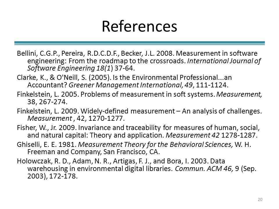 References Bellini, C.G.P., Pereira, R.D.C.D.F., Becker, J.L.