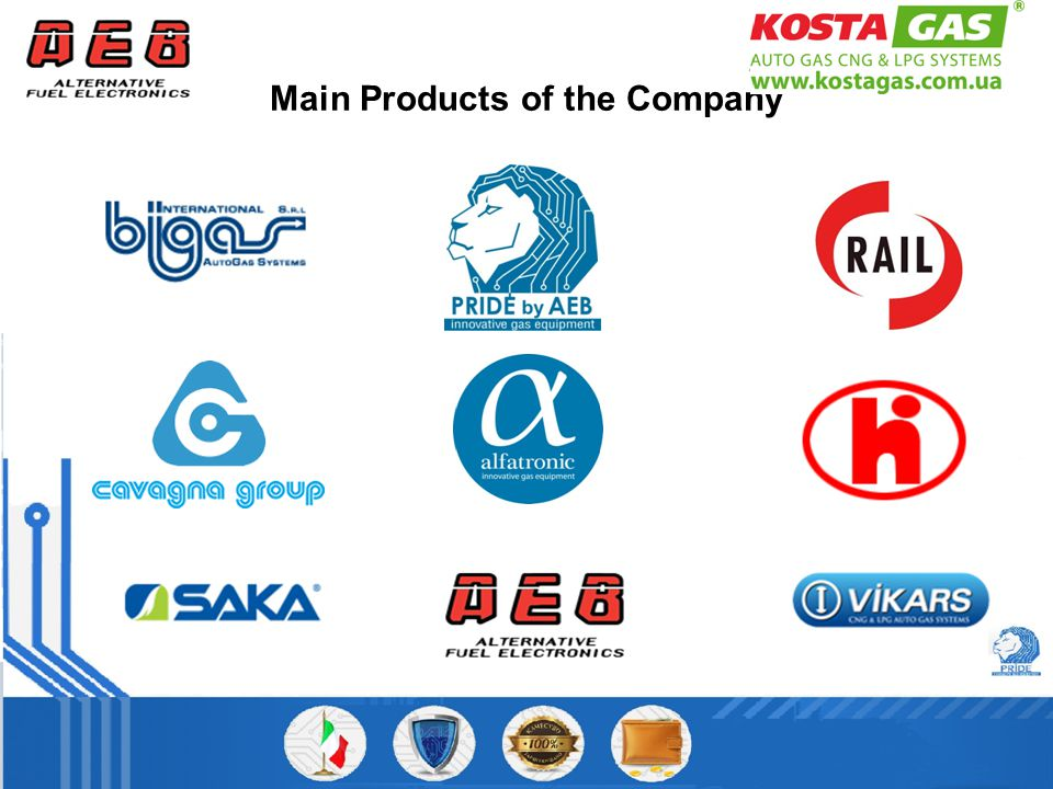 Main Products of the Company