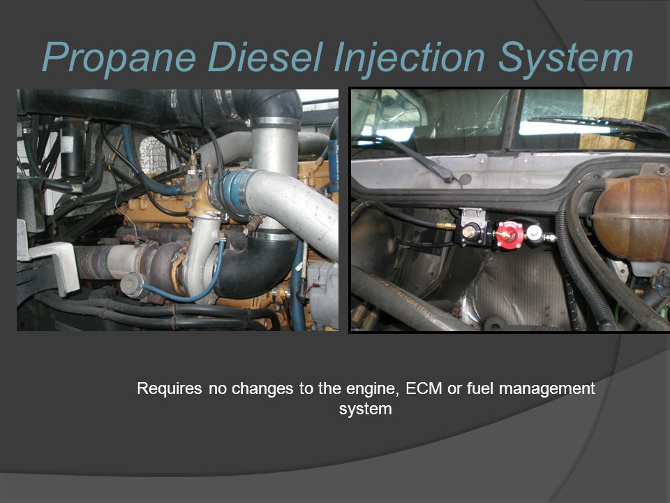 Requires no changes to the engine, ECM or fuel management system