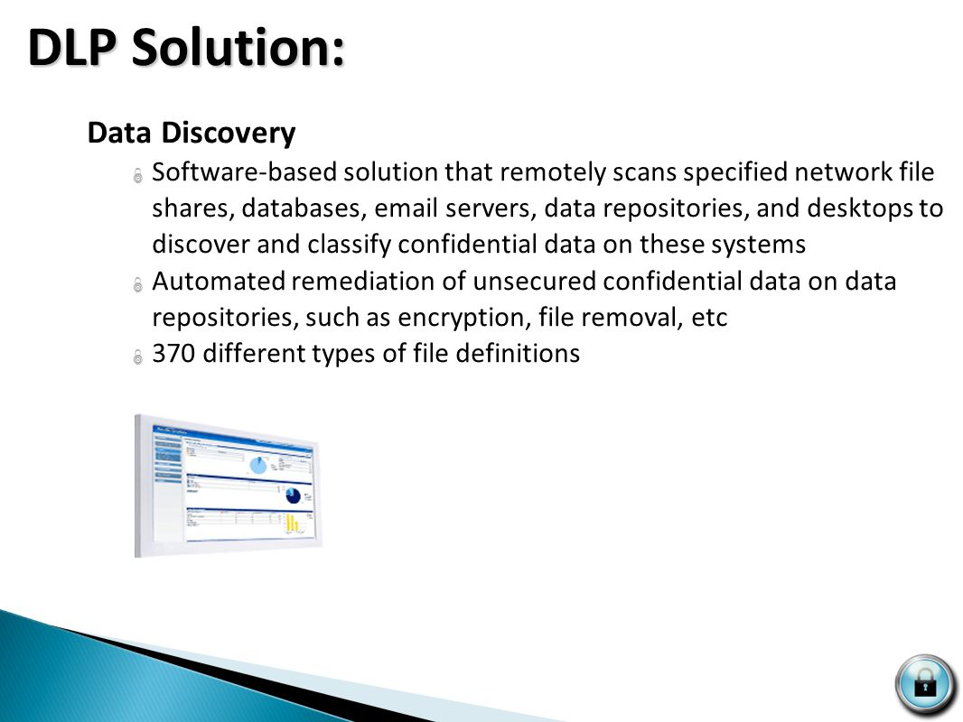 SYS CURE Data Security Suite  Data Discovery  Data Protect  Data Monitor  Data Endpoint DLP Solution: DLP Solution: