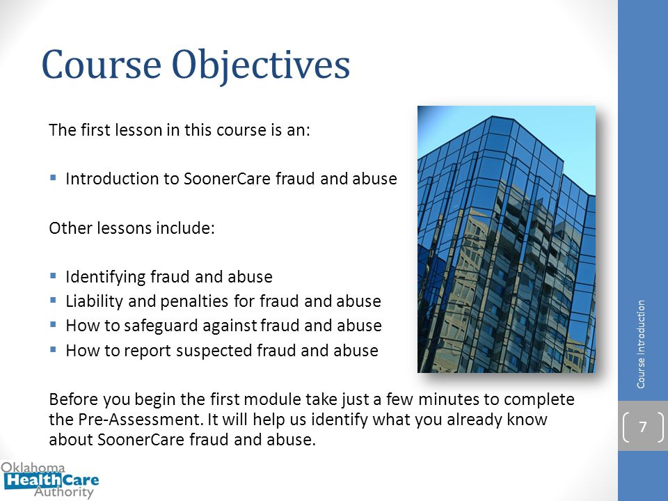 Identifying SoonerCare False Claims, Fraud and Abuse Pre-Assessment 12/01/2014 Version 1.01
