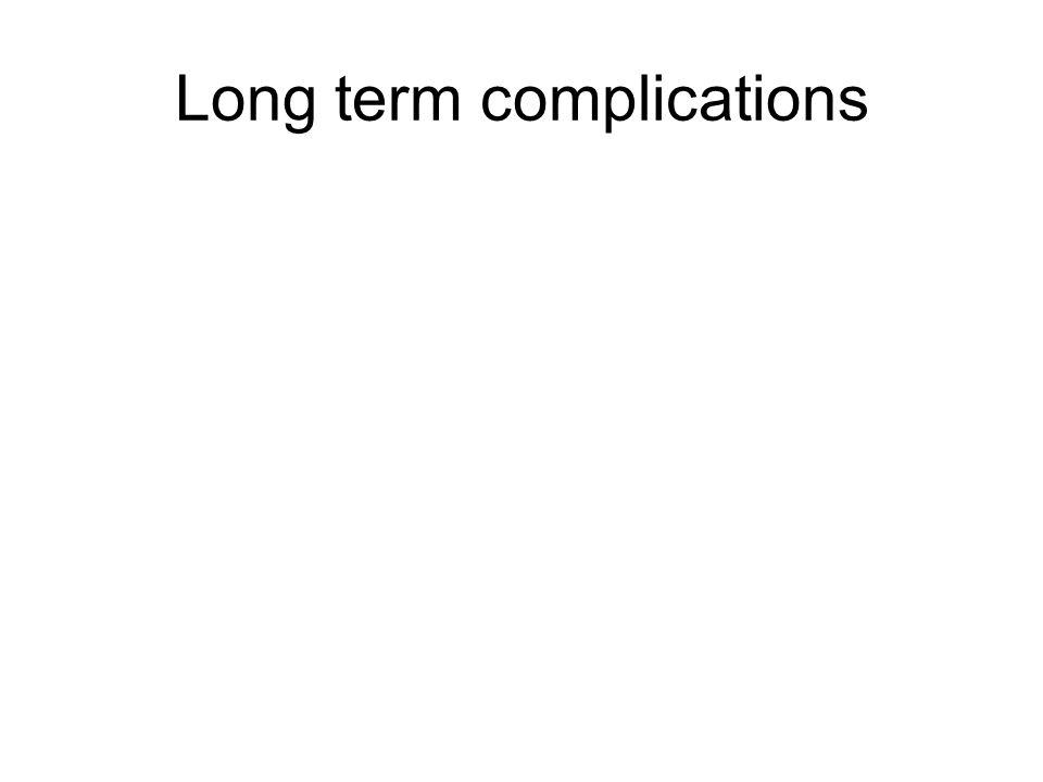 Long term complications