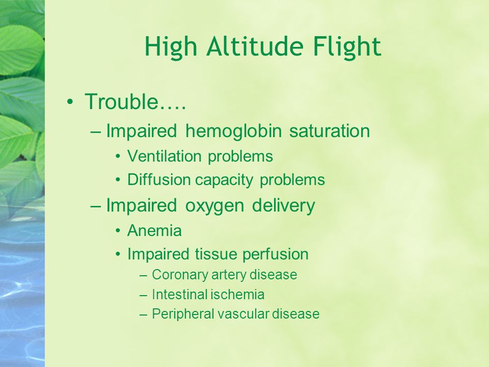 High Altitude Flight Trouble….