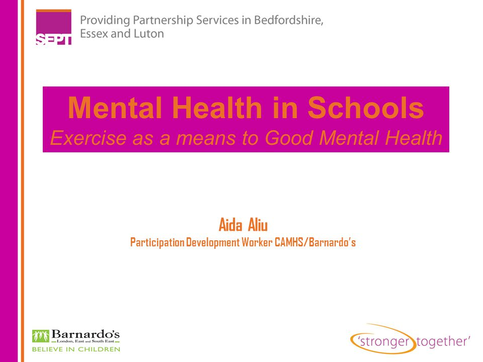 Mental health – an essential part of children s overall health It has a complex interactive relationship with their physical health and their ability to succeed in school, at work and in society.