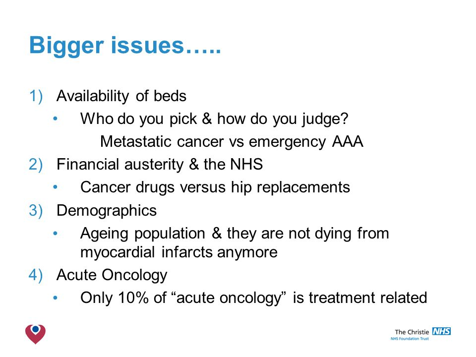 The Christie NHS Foundation Trust Bigger issues…..