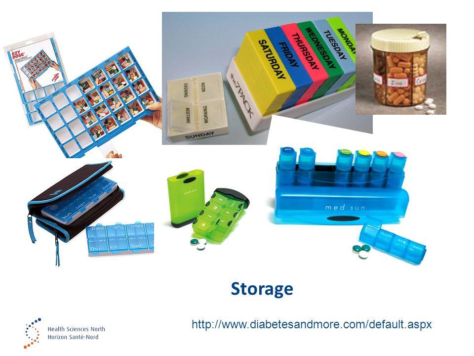 Storage http://www.diabetesandmore.com/default.aspx