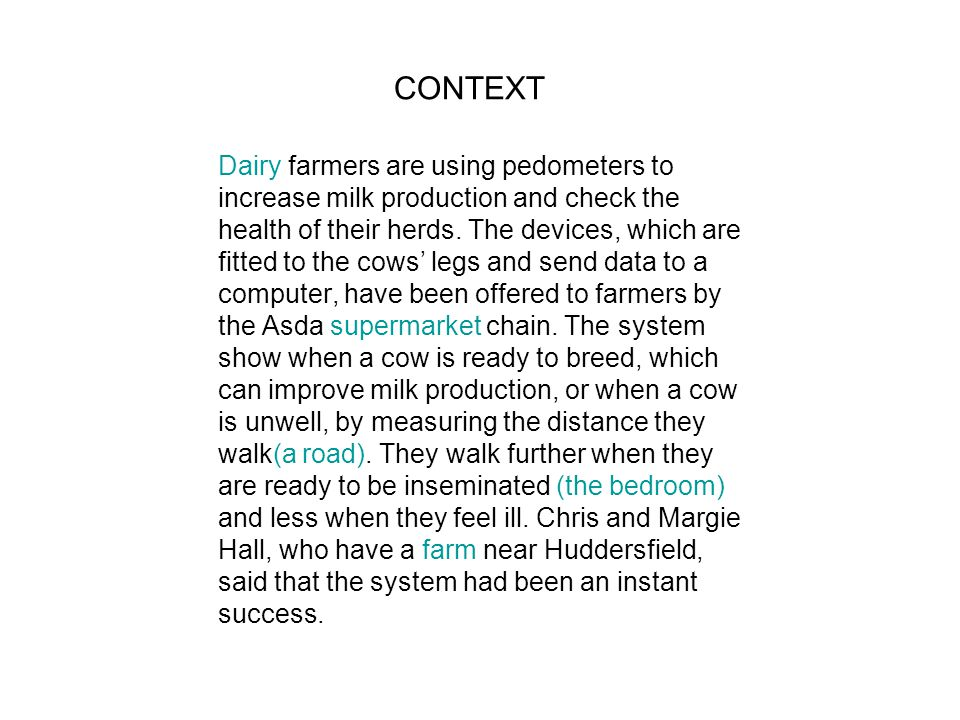 Dairy farmers are using pedometers to increase milk production and check the health of their herds.