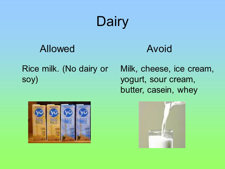 Dairy Rice milk.