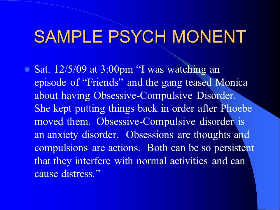 SAMPLE PSYCH MONENT Sat.