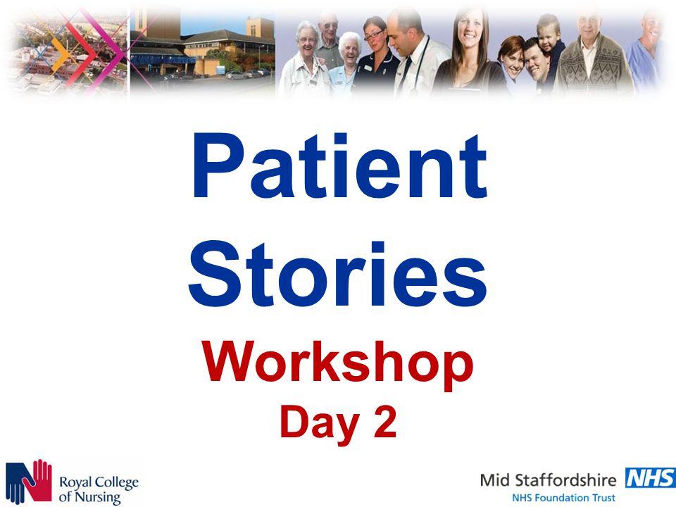 Patient Stories Workshop Day 2