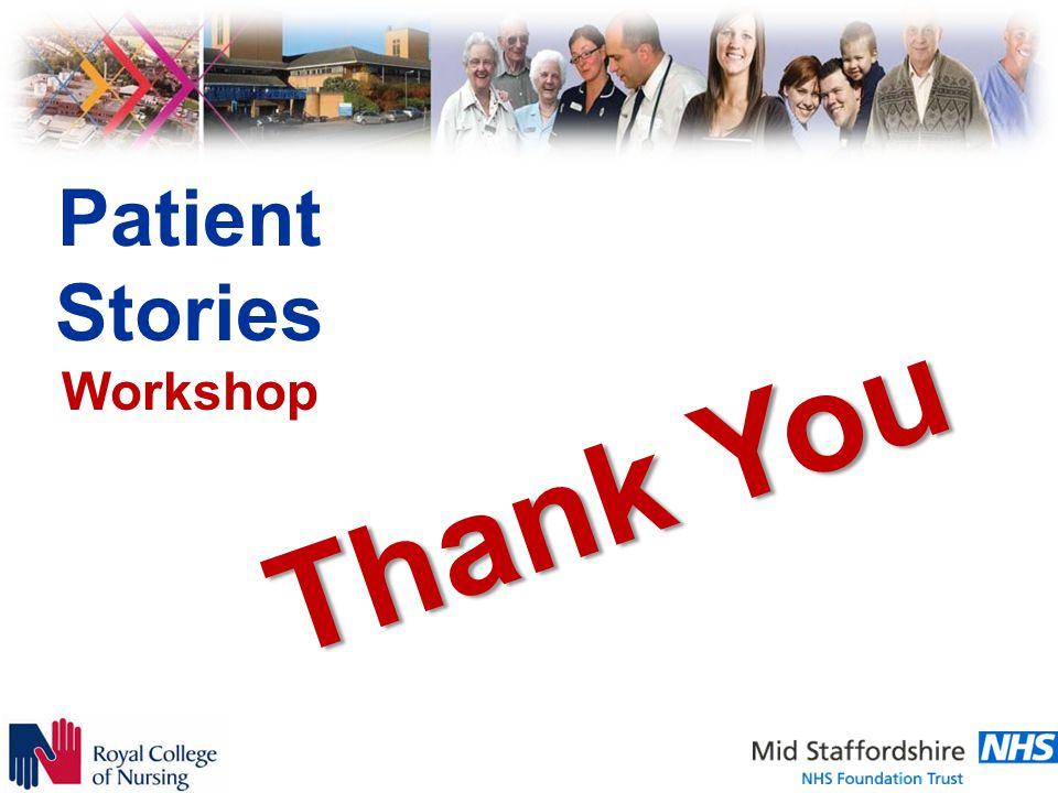 Patient Stories Workshop Thank You