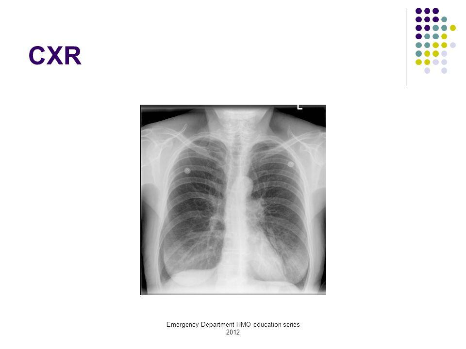 Emergency Department HMO education series 2012 Diagnosis Infective exacerbation of COPD with acute respiratory failure Treatment Bronchodilators, controlled oxygen, corticosteroids, antibiotics, Non Invasive Ventilation (NIV)