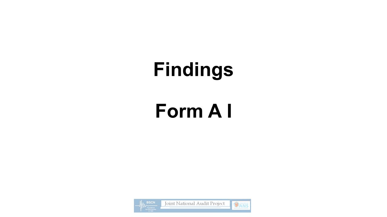 Findings Form A I