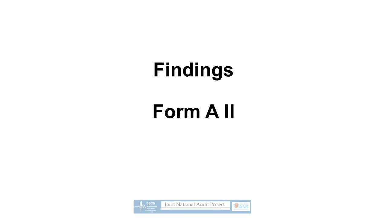 Findings Form A II