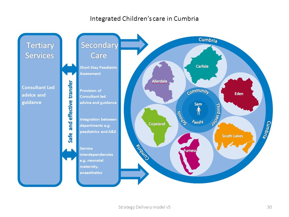 Strategy Delivery model v530 Integrated Children's care in Cumbria