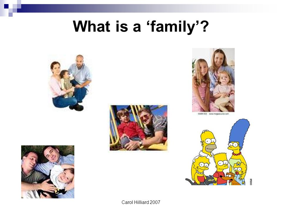 Carol Hilliard 2007 What is a 'family'?