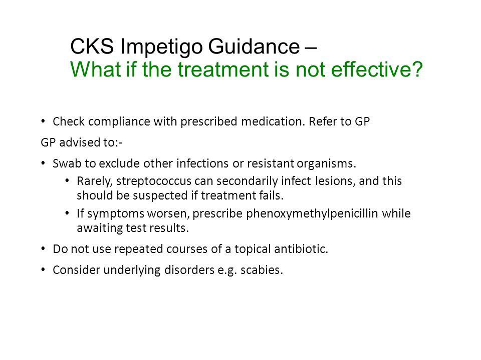 CKS Impetigo Guidance – Patient discussion points .