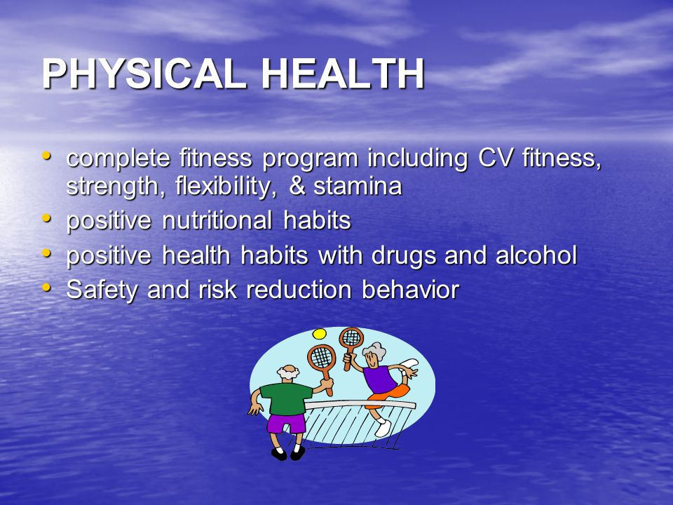 SOCIAL HEALTH encourages contribution to the welfare of the community encourages contribution to the welfare of the community meaningful relationships with others meaningful relationships with others family life rich and fulfilling positive personal relationships family life rich and fulfilling positive personal relationships