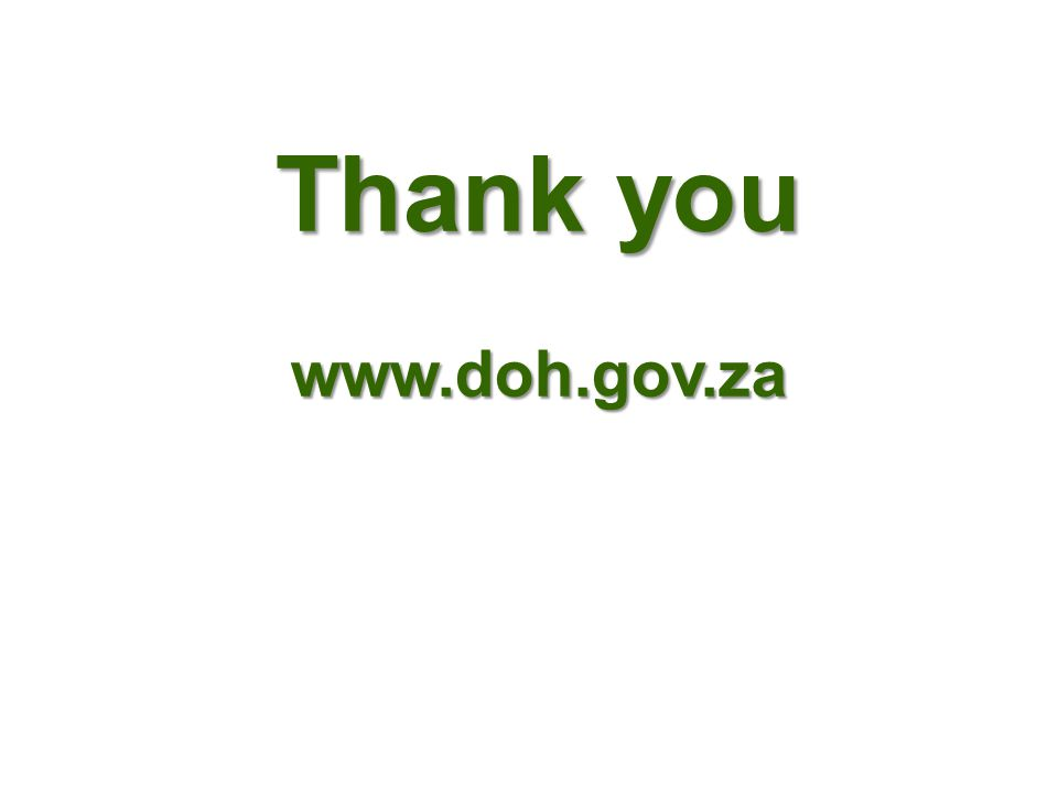 Thank you www.doh.gov.za
