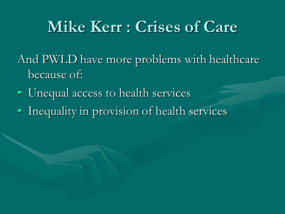 Attempts to improve PWLD Primary healthcare…….