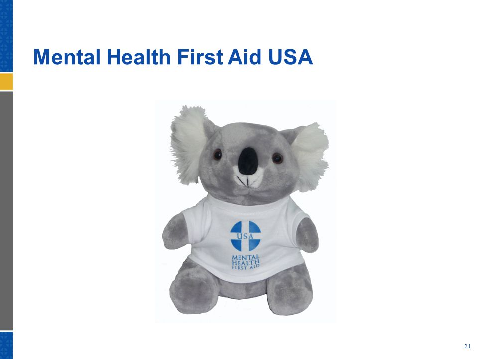 Mental Health First Aid USA 21