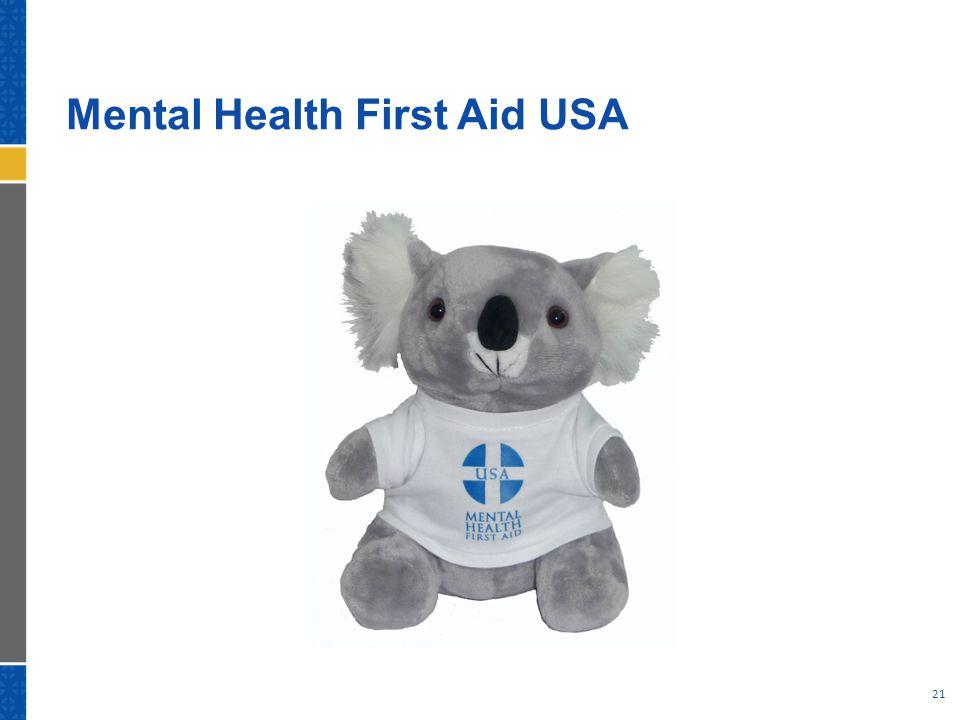 Mental Health First Aid USA 21