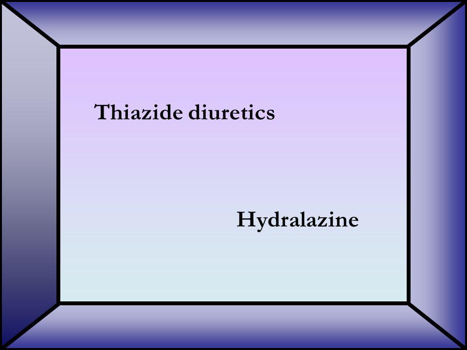 Thiazide diuretics Hydralazine