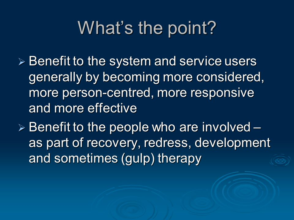 Why People First is important Change on 3 levels:  Individuals  The way we are treated and seen by others  Laws and policies