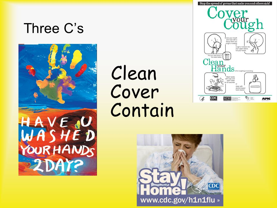 Three C's Clean Cover Contain