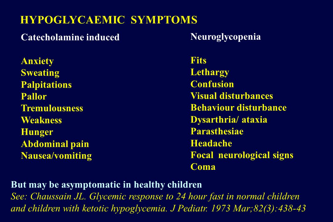 OUTCOME HYPOGLYCAEMIA Study: 661 Premature newborns Definition: Blood glucose < 2.6 mmol/l Lucas A, Morley R, Cole TJ.
