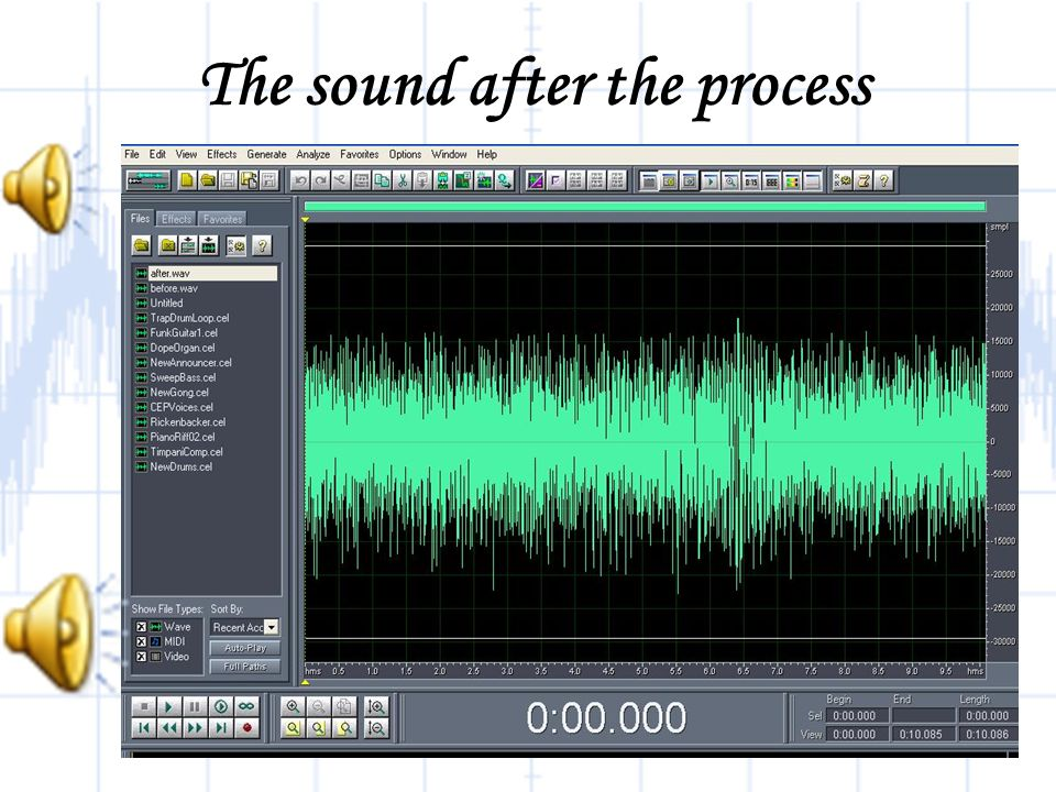 The sound after the process