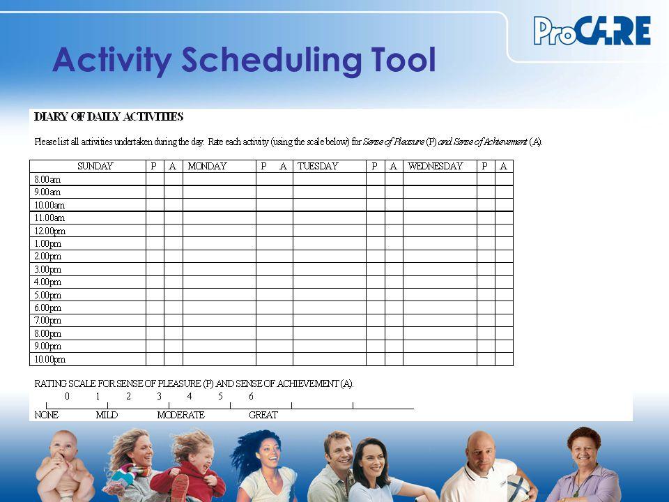 Activity Scheduling Tool