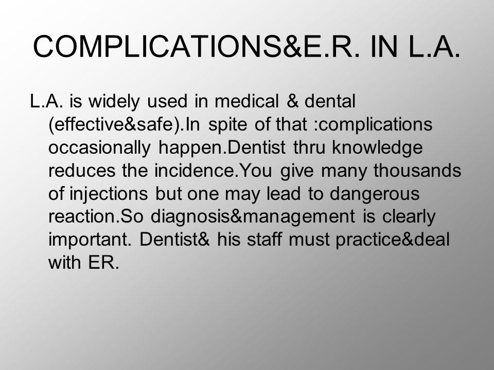 Local complication Failure to obtain anesthesia.