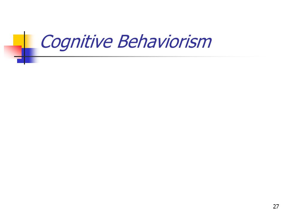 Definition Many psych/behavioral problems stem from unwell thought processes These thoughts have biological and psychological roots Individual responses are influenced by the way they structure/perceive their environment 28