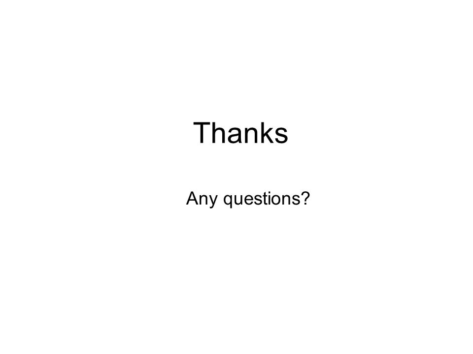 Thanks Any questions?