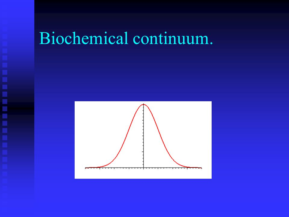 Biochemical continuum.