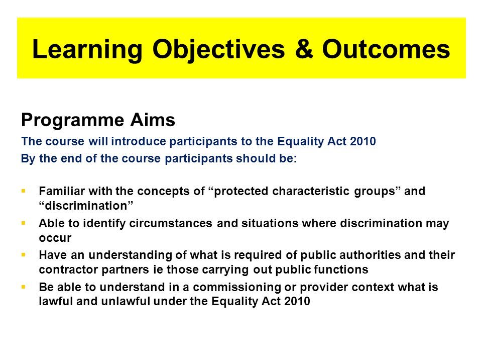 Types of Discrimination What you need to know Direct discrimination, includes eg Hate Crime Indirect discrimination Harassment Victimisation Positive discrimination Positive action √ Discrimination by perception Discrimination by association Discrimination arising from disability Failure of duty to make reasonable adjustments ILLEGAL Objective justification Direct discrimination, harassment and failure of duty to make reasonable adjustments cannot be justified.