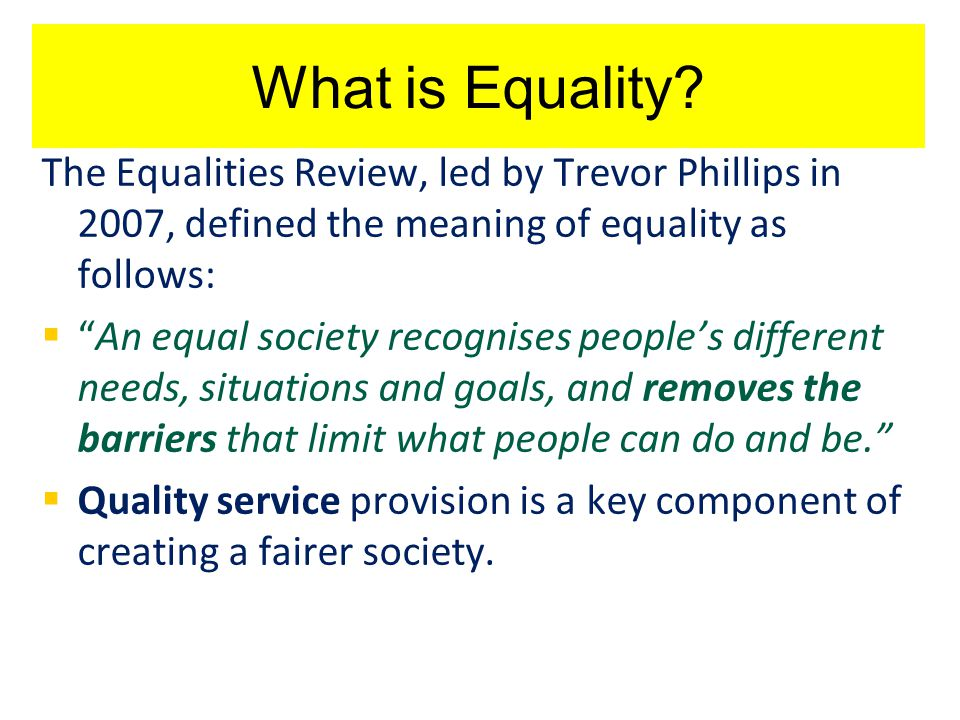 E&D: A broad inclusive concept Overview: What's it all about.