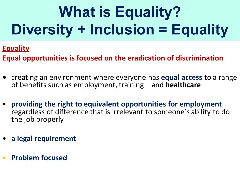 What is Equality.