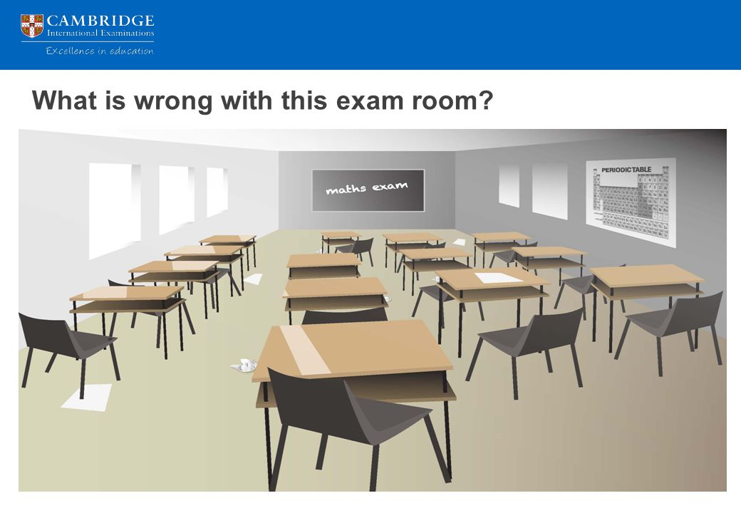 What is wrong with this exam room?