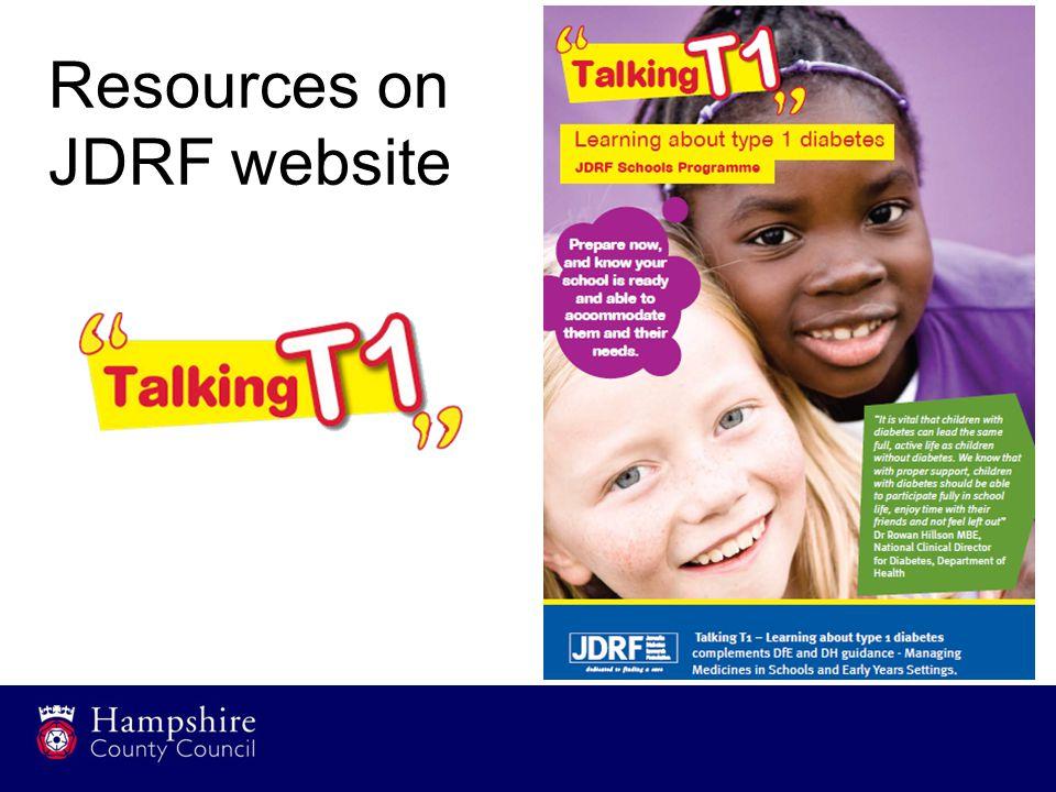 Resources on JDRF website