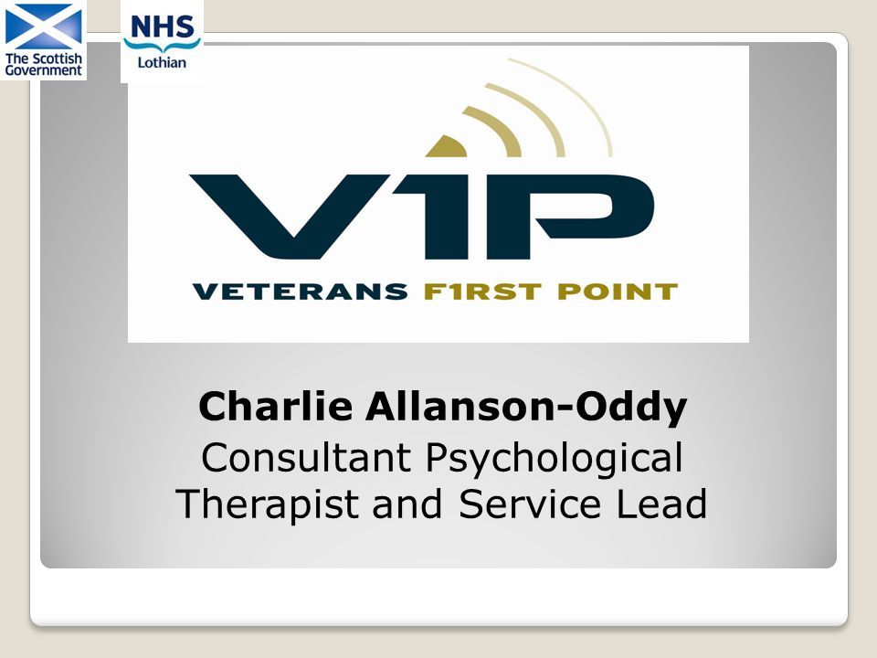 Charlie Allanson-Oddy Consultant Psychological Therapist and Service Lead